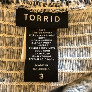 torrid Tops - Torrid Blue Floral Babydoll Ruffle Strappy Tank